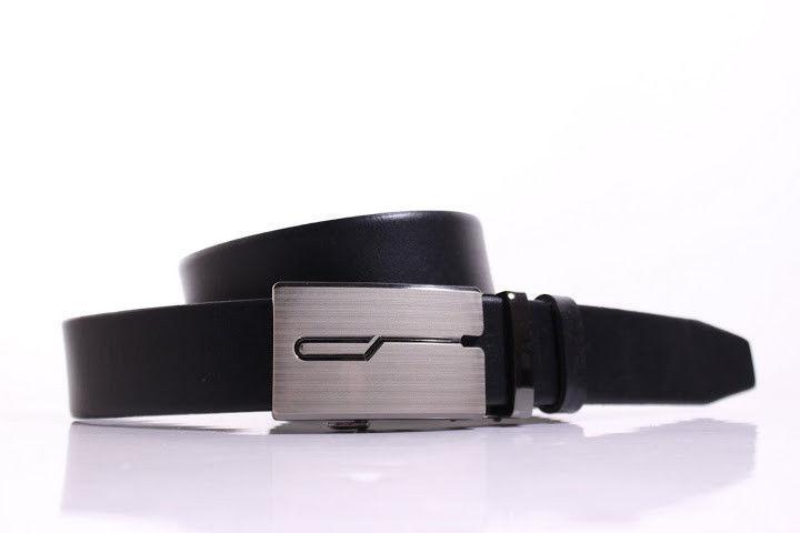 Ремень кожаный Lazar 115-120 см черный Л35И1А16