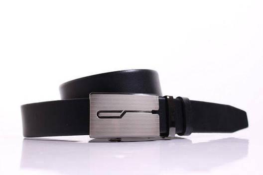Ремень кожаный Lazar 115-120 см черный Л35И1А16, фото 2