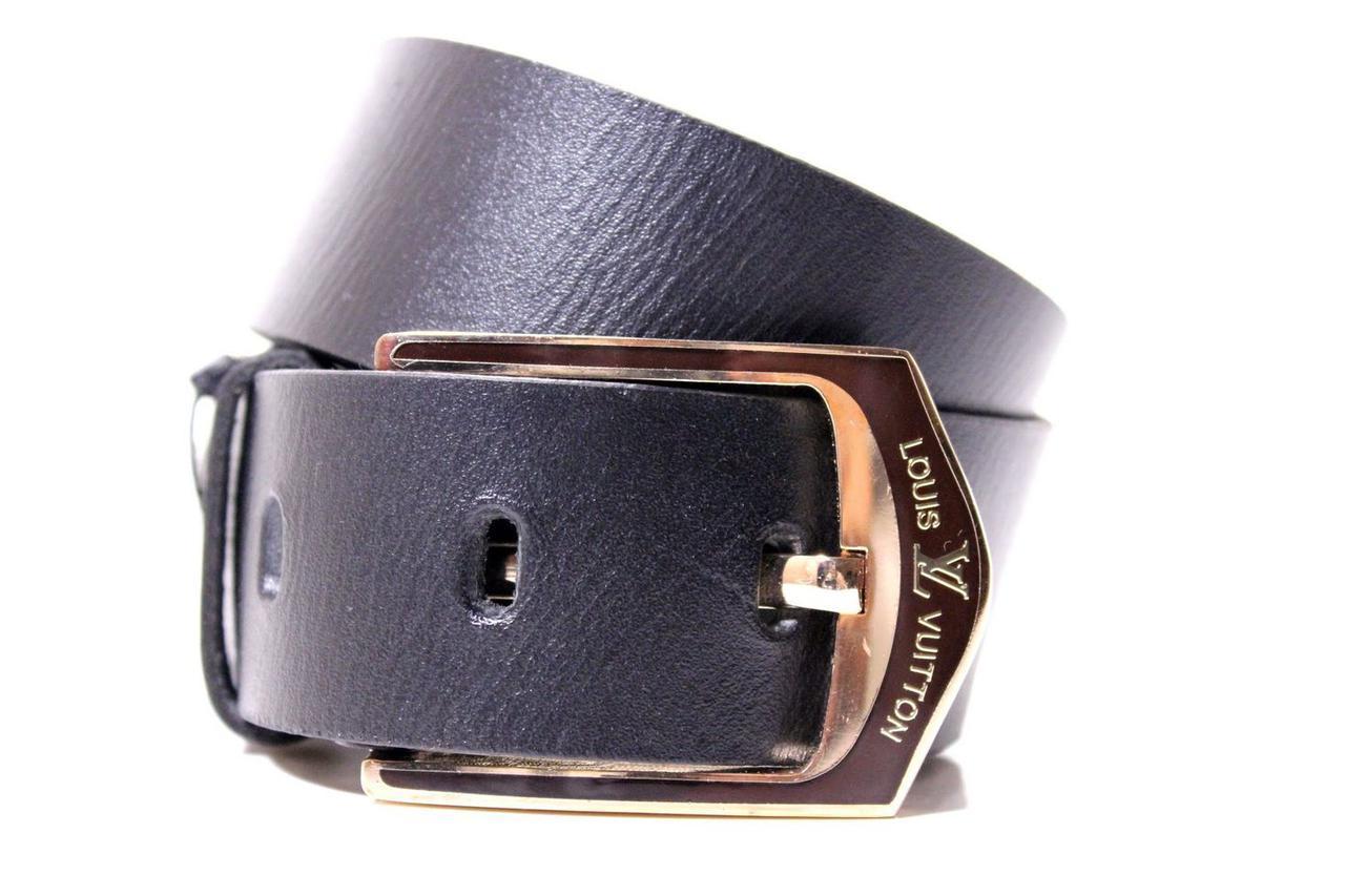 Ремень кожаный Lazar 115-120 см черный Л40И0Ш1