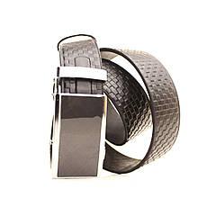Ремень кожаный Lazar 120-125 см черный L35U1A75-M, фото 2