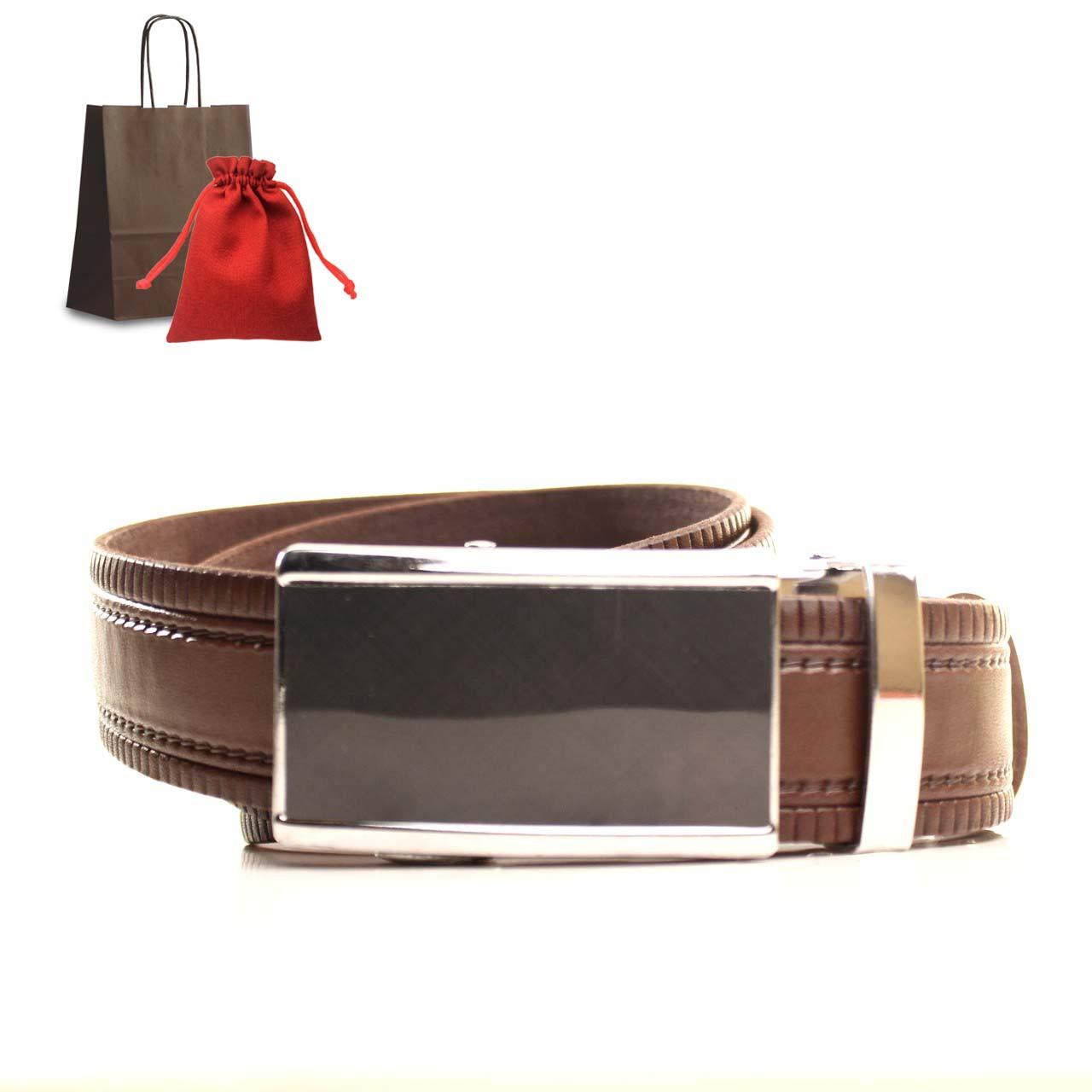 Ремень кожаный Lazar 120-125 см коричневый L35U1A79-M