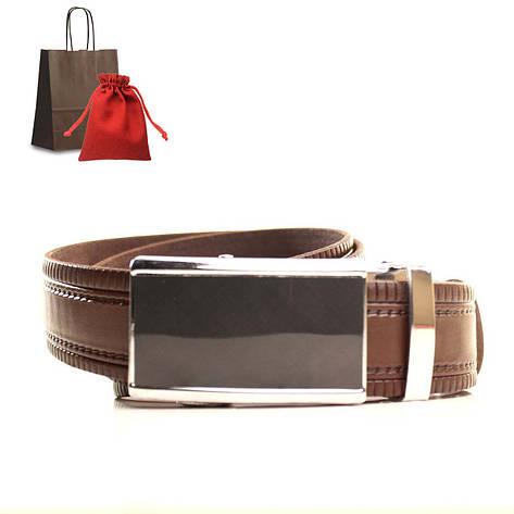 Ремень кожаный Lazar 120-125 см коричневый L35U1A79-M, фото 2