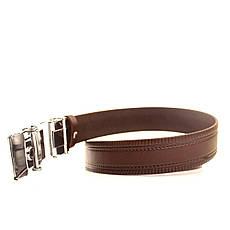 Ремень кожаный Lazar 120-125 см коричневый L35U1A79-M, фото 3