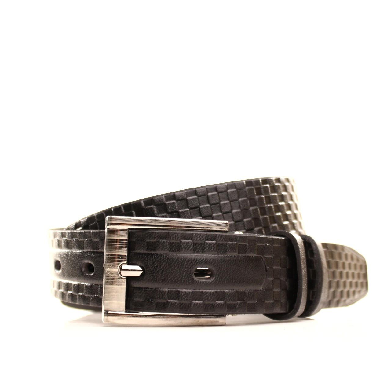 Ремень кожаный Lazar 60-70 см черный l30u3w9