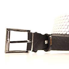 Ремень кожаный Lazar 60-70 см черный l30u3w9, фото 3