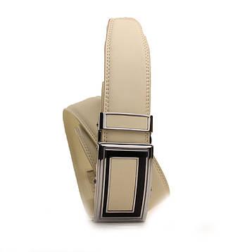 Ремень кожаный Alon 120-125 см бежевый l35a1a22, фото 2
