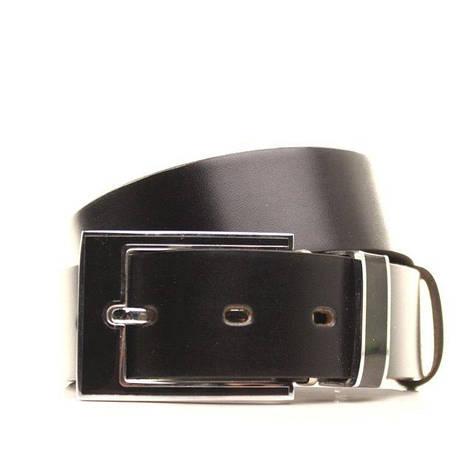Ремень кожаный Lazar 105-115 см черный l35b1w4, фото 2