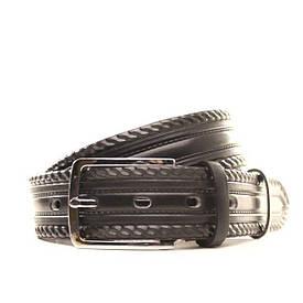 Ремень кожаный Lazar 130-140 см черный l35u1w62-1