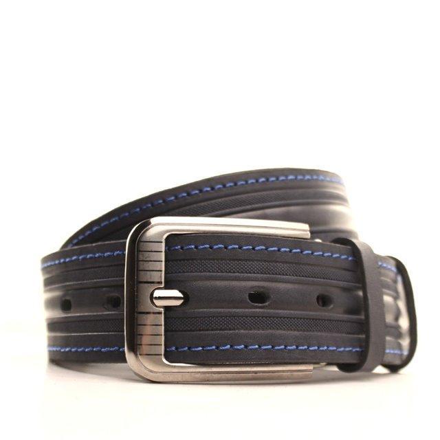 Ремень кожаный Lazar 105-115 см синий-синий l40y1w8