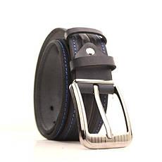 Ремень кожаный Lazar 105-115 см синий-синий l40y1w8, фото 2
