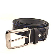 Ремень кожаный Lazar 105-115 см синий-синий l40y1w8, фото 3