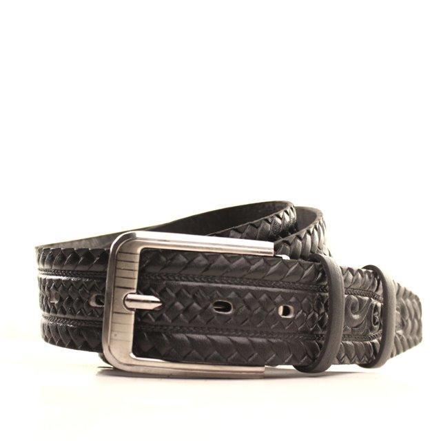 Ремень кожаный Lazar 105-115 см черный l40y1w9