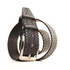 Ремень кожаный Lazar 105-115 см черный l40y1w9, фото 2