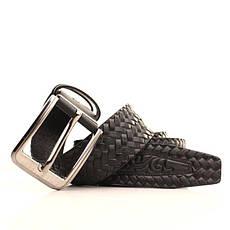 Ремень кожаный Lazar 105-115 см черный l40y1w9, фото 3