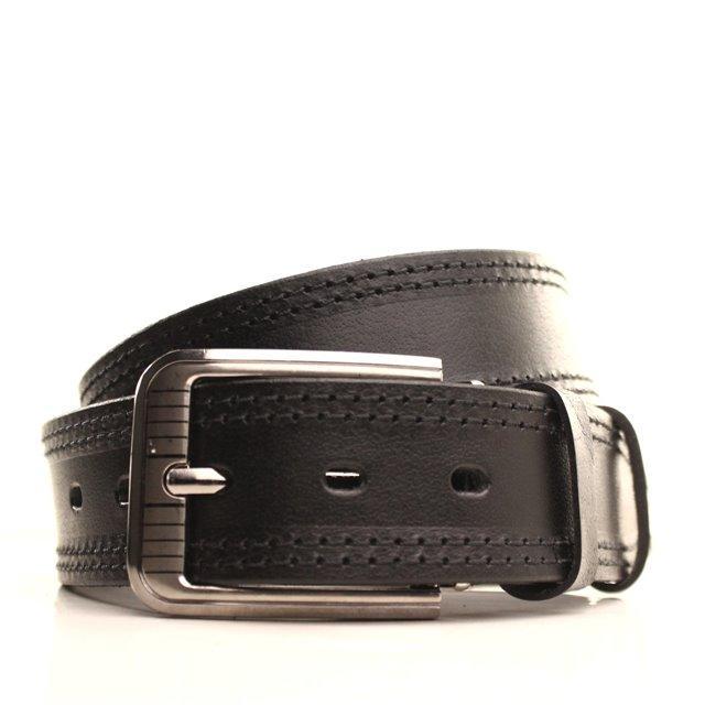 Ремень кожаный Lazar 105-115 см черный-черный l40y1w10