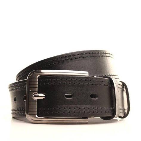 Ремень кожаный Lazar 105-115 см черный-черный l40y1w10, фото 2