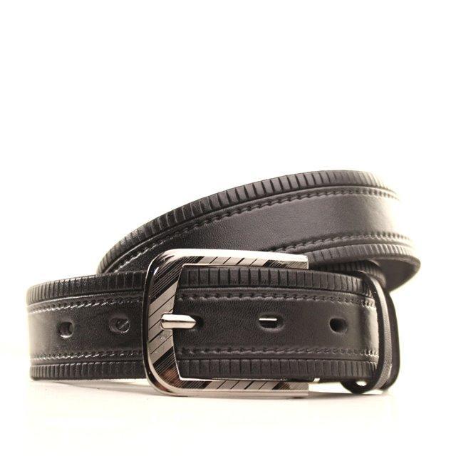 Ремень кожаный Lazar 105-115 см черный l35u1w73