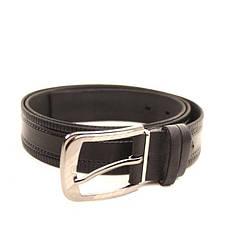 Ремень кожаный Lazar 105-115 см черный l35u1w73, фото 3