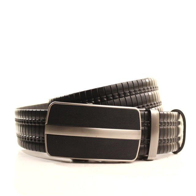 Ремень кожаный Lazar 120-125 см черный l35y1a10