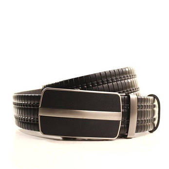 Ремень кожаный Lazar 120-125 см черный l35y1a10, фото 2