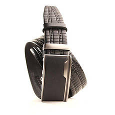 Ремень кожаный Lazar 120-125 см черный l35y1a14, фото 2
