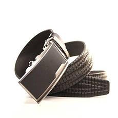 Ремень кожаный Lazar 120-125 см черный l35y1a14, фото 3