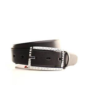 Ремень кожаный Lazar 115 см черный L30S0W3