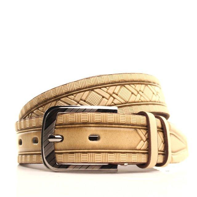 Ремень кожаный Lazar 105-115 см бежевый L35U1W94