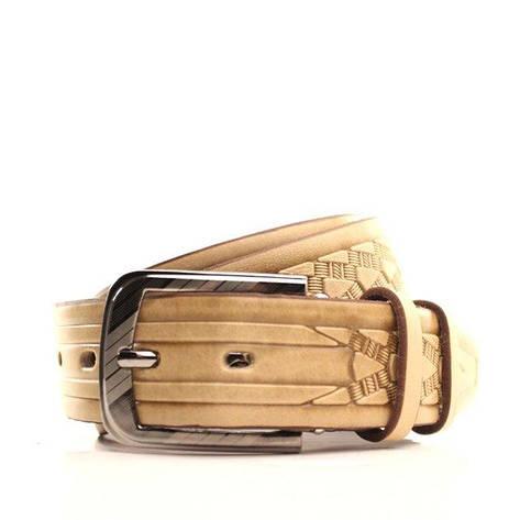 Ремень кожаный Lazar 120-125 см бежевый L35U1W96, фото 2