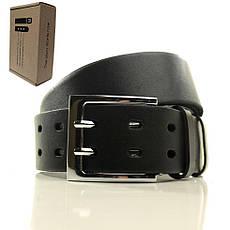 Ремень кожаный Lazar 105-110 см черный L40U121-B, фото 2