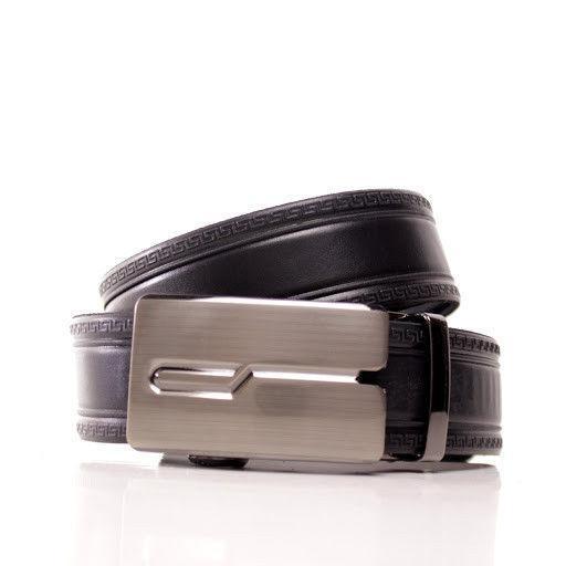 Ремень кожаный Lazar 115-120 см черный л35в1а17