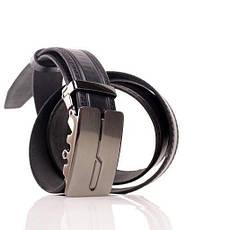 Ремень кожаный Lazar 115-120 см черный л35в1а17, фото 3