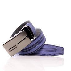 Ремень кожаный Lazar 115-120 см голубой л35в1а36, фото 3