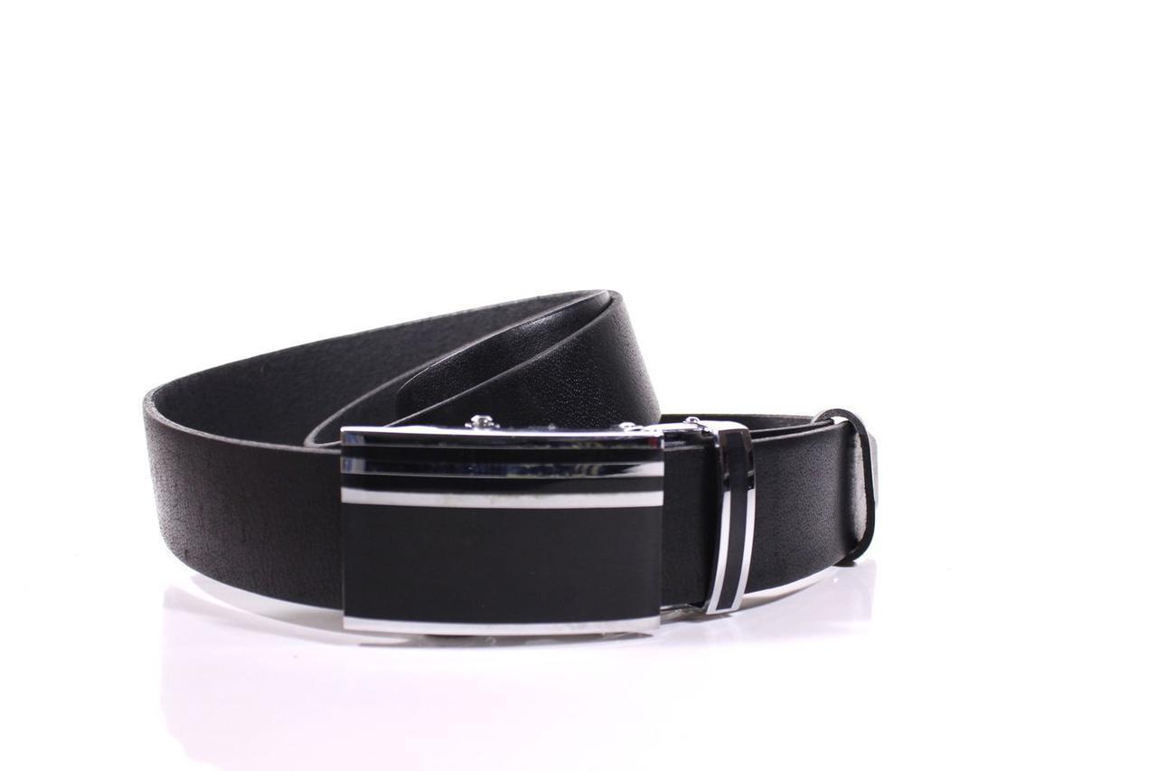 Ремень кожаный Lazar 115-120 см черный Л35И1А12