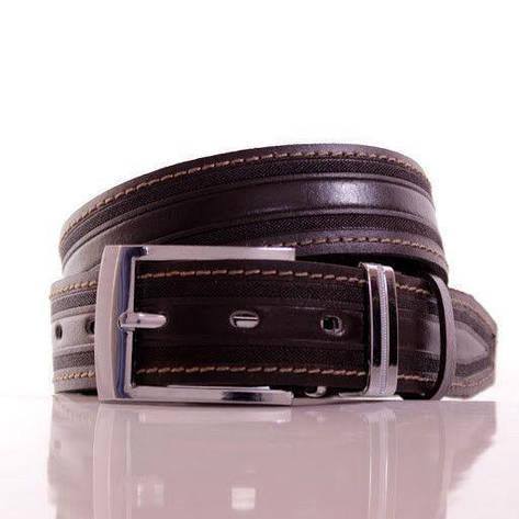 Ремень кожаный Lazar 110-115 см коричневый Л35С1Ш42, фото 2