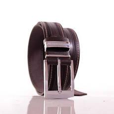 Ремень кожаный Lazar 110-115 см коричневый Л35С1Ш42, фото 3