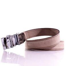 Ремень кожаный Lazar 115-120 см бежевый л35у1а75, фото 2