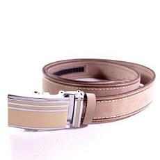 Ремень кожаный Lazar 115-120 см бежевый л35у1а75, фото 3