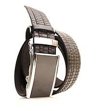 Ремень кожаный Lazar 120-125 см черный L35U1A69-M, фото 2