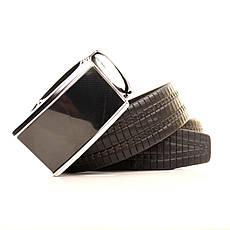 Ремень кожаный Lazar 120-125 см черный L35U1A69-M, фото 3