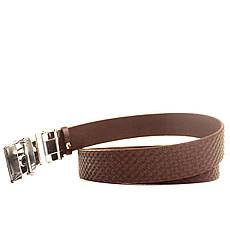 Ремень кожаный Lazar 120-125 см коричневый L35U1A70-M, фото 3