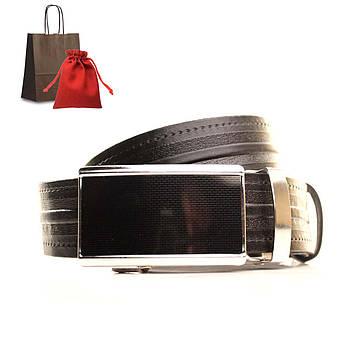 Ремень кожаный Lazar 120-125 см коричневый L35U1A73-M, фото 2