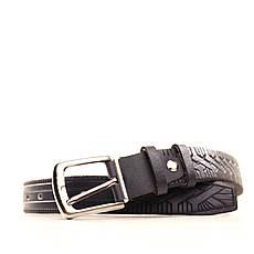 Ремень кожаный Lazar 60-70 см синий l30s3w3, фото 3