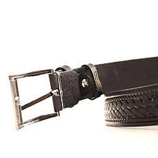 Ремень кожаный Lazar 60-70 см черный l30s3w8, фото 3