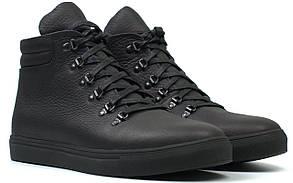 Черевики чоловічі зимові чорні шкіряні на хутрі на блискавці взуття великих розмірів Rosso Avangard Ranger SL L Black