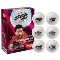 Кульки для настільного тенісу DHS, 6 шт, 3 *, фото 1