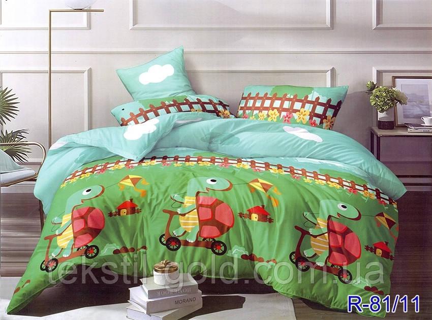 Детский постельный комплект R-81/11 ТМ TAG ранфорс полуторный 150х220