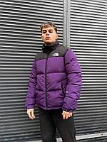 Куртка пуховик мужская женская унисекс фиолетовая на молнии зимняя в стиле The North Face 1:1 к оригиналу