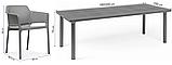 Комплект  Стіл  Libeccio  160-220см + 6 крісел Net  tortora, фото 5