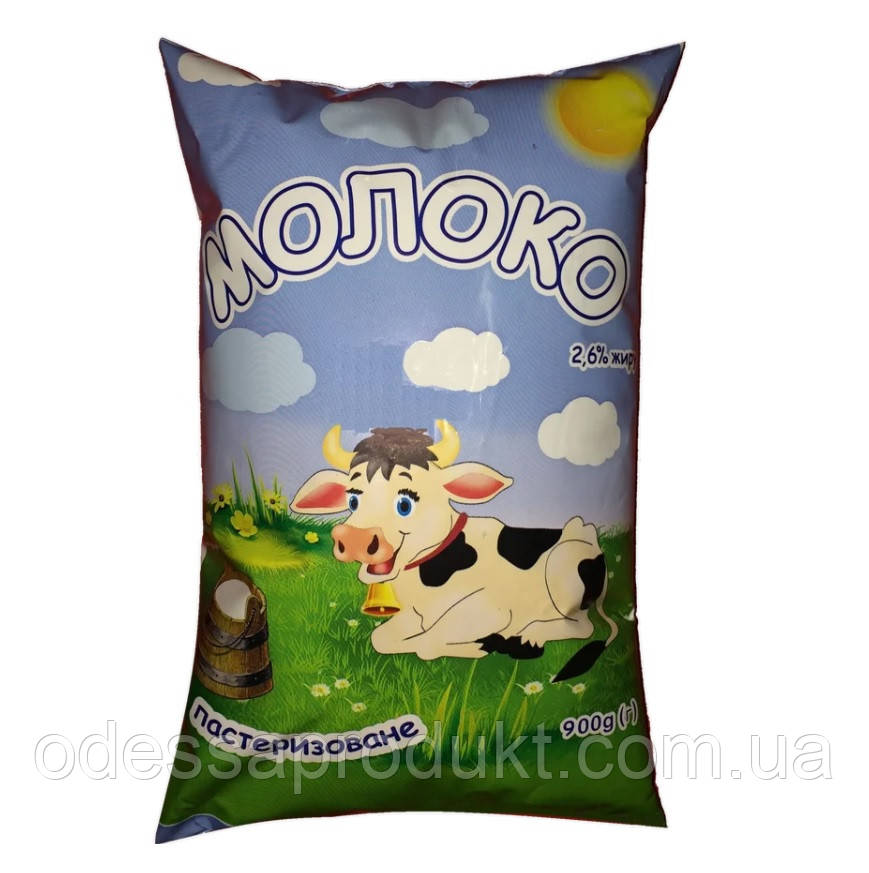 Молоко коровье пастеризованное 2,6%